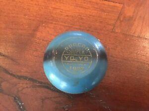 Vintage Duncan Super Tournament Tops Yo-Yo Blue With Black Stripe Made in USA