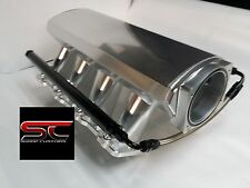 102mm LS1 LS2 SHEET METAL INTAKE FABRICATED TIG WELDED ALUMINUM W/FUEL RAILS