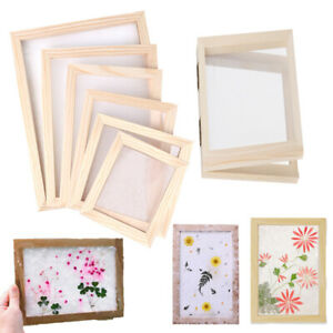 Wooden Paper Making Screen Kit DIY Craft Paper Making Mold Frame, Dried Flowers