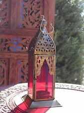 VETRO Marocchina & Ferro Lanterna Tè Leggero tealight portacandele Casa Giardino Regalo