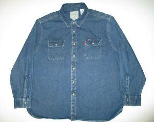 Levis Denim Jean Red Tab Shirt Men's XXXL