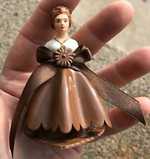 Vintage Brown Dress Bride Cake Topper #6 Made In Hong Kong 3 X 2 1/2""