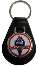 Shelby Cobra Keyring Leather Fob GT350 GT500 AC 1964 1965 1966 1967 1968 65 66