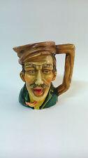 Jarra de cerveza de porcelana con cara personaje peculiar, Fabricado en Alemania