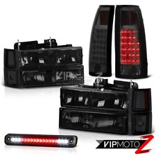 Chevy CK Silverado Suburban 1500 2500 Smoke Headlight Tail Light LED Third Brake