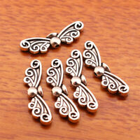 50pieces 22mm Silver End Bead butterfly charm Jewelry Bracelet DIY Marking A7141