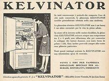 Z0323 Ghiacciaia elettrica KELVINATOR - Pubblicità del 1931 - Advertising