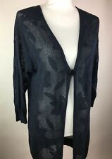 Intimissimi Size M Blue Crochet Sheer Cover Leaf