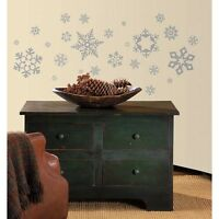 GLITTER SNOWFLAKES WALL DECALS New Christmas Stickers Decorations Winter Decor
