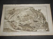 1751/72 ENGRAVING MINERALOGY PRISM PERENEIRE SANDOUX AUVERGNE FRANCE DIDEROT N°8