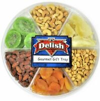 Gourmet Holiday Nuts & Dried Fruit Assortment Gift Tray 6-Pt by It's Delish -...