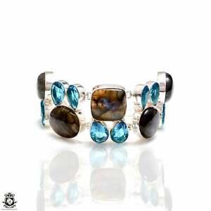 Labradorite Blue Topaz Bracelet B4217
