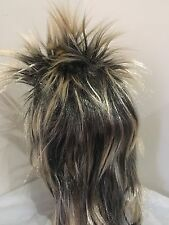 Brand New Men's 80s Blonde Spikey Punk Rock Mullet Wig Costume Accessory