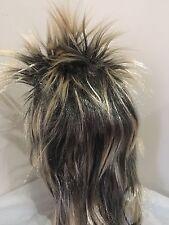 Men's 80s Blonde Spikey Punk Rock Mullet Wig Costume Accessory