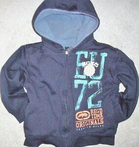 Ecko Unlimited Full Zip Hooded Jacket Blue Fleece Lined Boys Size 5