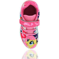 Girls My Little Pony Plymouth Touch Fastening Laced Trainers Shoes Uk Size 6-12