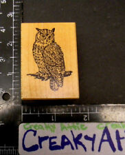 PSX OWL SITTING RUBBER STAMPS RETIRED D-219