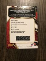 2020 Panini Select XRC WR3 Redemption Rookie
