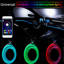 RGB Light LED Car Interior Neon Strip Light Sound Active Blueteeth Phone Control