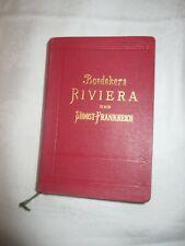 1906 BAEDEKERS RIVIERA - Baedeker komplett / 408 Seiten - sehr schöner Erhalt