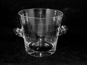 Tiffany & Co. Crystal Scroll Handled Ice Bucket