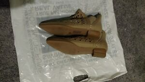 Womens Tan/Natural Cut Out Booties  Size 10