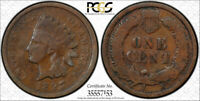 1897 1C Indian Head Cent PCGS G 6 Double Struck in Collar Mint Error Neat !