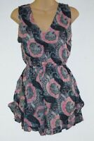 Playsuit Shorts Hippy boho Comfy size 10-12 Gypsy Hippie short rayon Jumpsuit