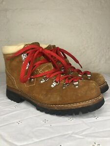 VTG SEARS SUEDE LEATHER MOUNTAINEERING HIKING BOOTS SIZE 9D MONT BLANC MONTBLANC