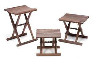 Wenge Wood Folding Stool Chinese Style Chair Bench Fishing Camping Handmade