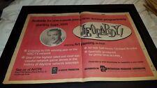 Jeopardy! Art Fleming Rare Original Promo Poster Ad Framed!