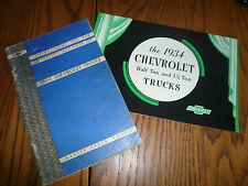 1934 Chevrolet Trucks Instructios for Care Original & Sales Brochure - Glove Box