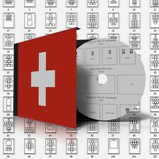 SWITZERLAND STAMP ALBUM PAGES 1843-2011 (257 pages)