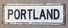 Portland Oregon Willamette River Columbia Gorge  Vintage Metal Sign Home Decor