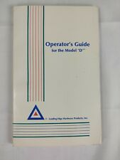 """Vintage 1987 Leading Edge Hardware Operator's Guide For The Model """"D"""" Manual"""