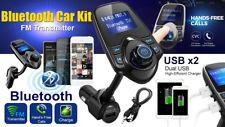 Trasmettitore FM BLUETOOTH WIRELESS T10 KIT Auto Vivavoce Lettore MP3 USB CHARGE