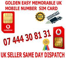 GOLDEN EASY MEMORABLE UK VIP MOBILE PHONE NUMBER 07 444 30 81 31 PLATINUM SIM
