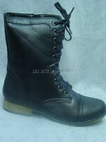Victorian style Old West low-heeled black granny boots Black size 6