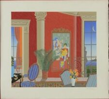 THOMAS McKNIGHT, Red Matisse serigraph, Unframed