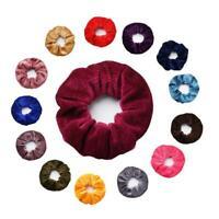 2X Velvet Scrunchies Ponytail Holder Hair Accessories Lot Elastic Hair Band