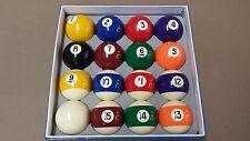 "OLHAUSEN PREMIUM GRADE A New Billiard Pool Ball Set Standard Size 2 1/4"""