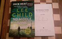 Lee Child SIGNED No Middle Name Hardback Book 1st edition 1st impression