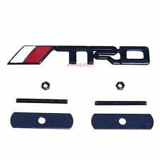 Black TRD Car Front Grill Grille Emblem Badge For Toyota Camry Corolla Yaris