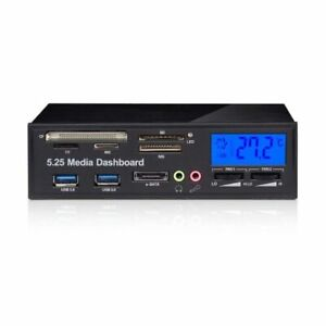 1X(Multifunctional Media Panel 5.25 inch Computer Front Dashboard with