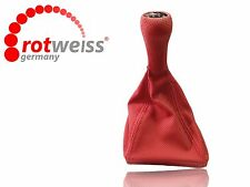 BMW E36 SHIFT KNOB BOOT, PUNCHED STILL, MAT RED COLOR, ROTWEISS Germany