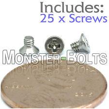 M2 x 3mm - Qty 25 - Stainless Steel DIN 965 Phillips FLAT HEAD Machine Screw A2