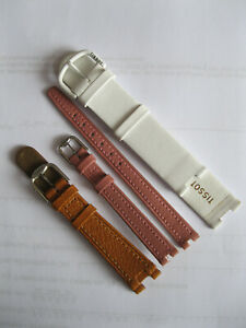 Tissot Woodwatch Leder Uhren Armband, leather watch strap