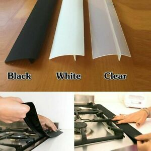 Silicone Stove Counter Gap Cover For Cooker Worktop Spill Guard Seal Filler 2pcs