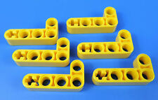 LEGO® technic Nr- 4141628 /2x4 gelbe  90° L-Form Lochstangen - Liftarm / 6 Stück
