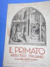 IL PRIMATO ARTISTICO ITALIANO - ANNO 1920 N.6.-ANNO II